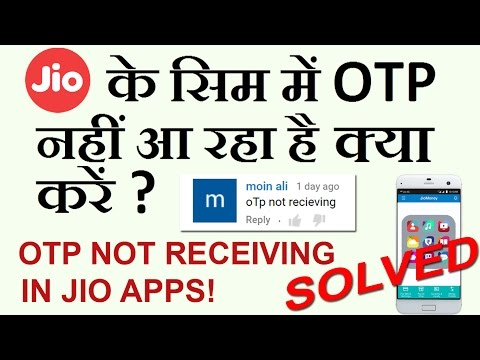 MUST WATCH: RELIANCE JIO 4G : How to Get OTP for Jio Sim ?  MYJIO APP  in Hindi LATEST