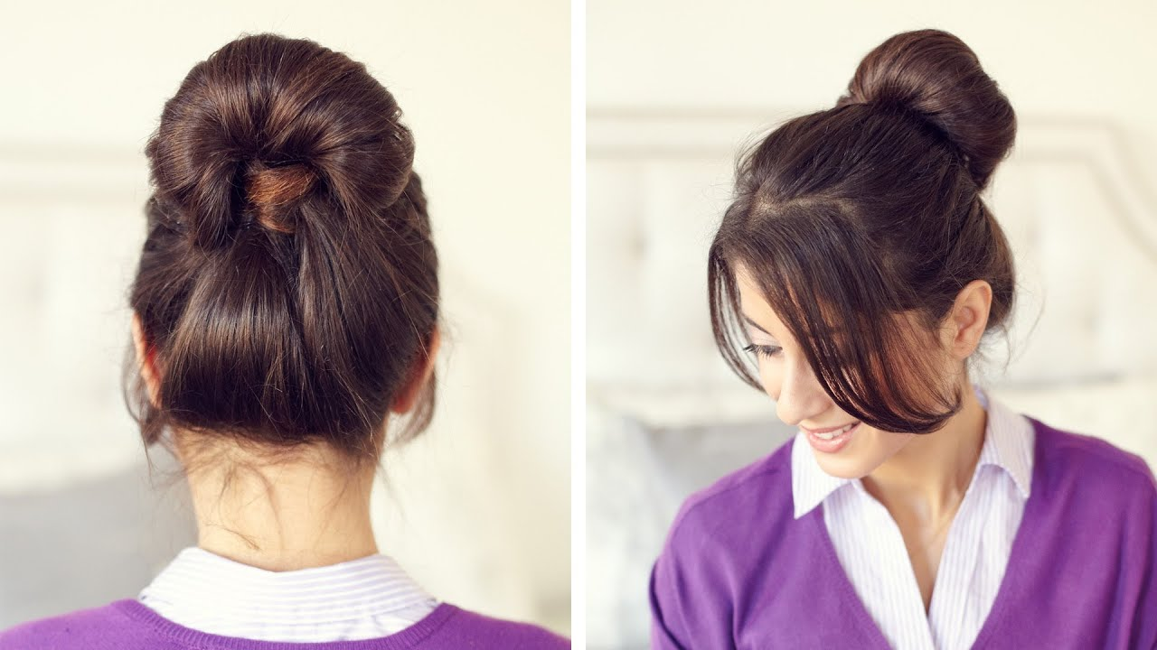 Inside Out Ponytail Bun YouTube
