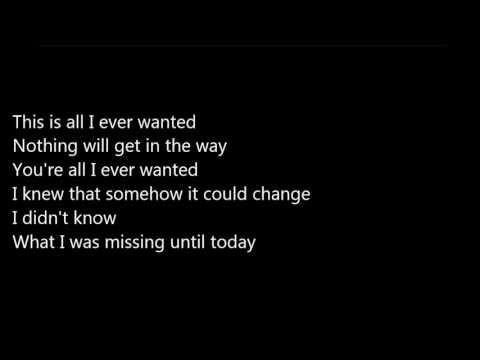 John Tyree-All I Ever Wanted [LYRICS]
