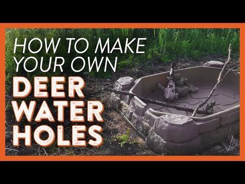 Diy Deer Water Holes Youtube