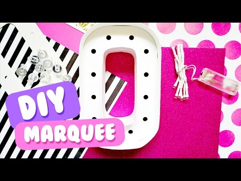 diy-marquee-letters-from-cardboard,-lights-and-decorations!