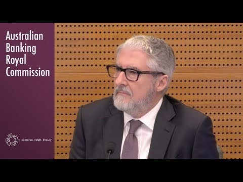 An independent reviewer of the ABA's Code of Banking Practice testifies at the Royal Commission