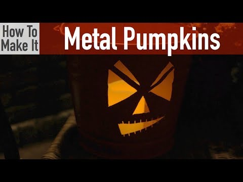 How to make your own Metal Pumpkins