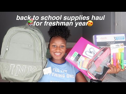 my freshman back to school supplies haul 2019! +ParKoo Pen Supplies