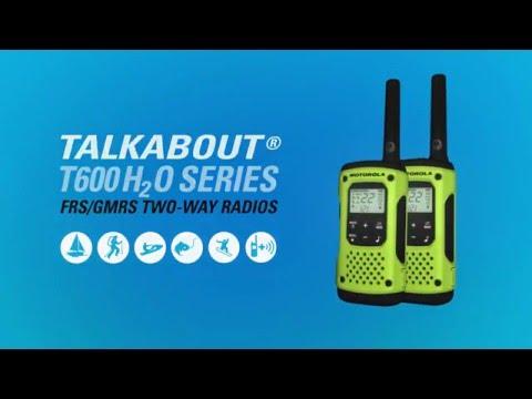 Green 2 Pack MOTOROLA Talkabout® T600 Waterproof Rechargeable Two-Way Radios