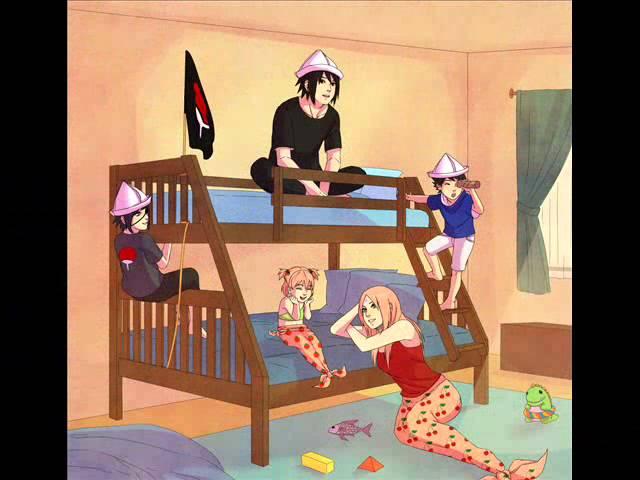 Sasuke y Sakura Familia
