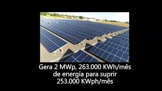 Informações sobra a usina fotovoltaica do TRE-PR Institucional com dados técnicos.