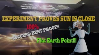 Cotton/Light Ecosystem EXPERIMENT Proves SUN is CLOSE 100% FLAT EARTH SUN