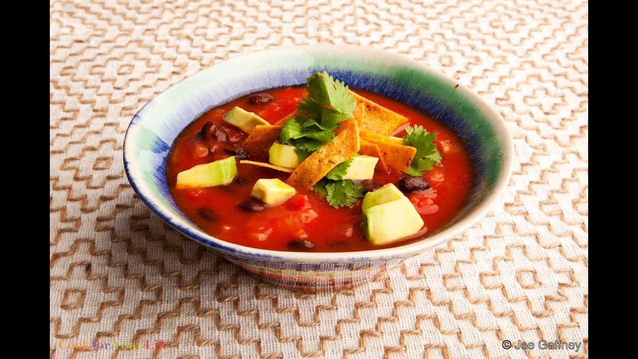 Vegetarian Tortilla Soup Recipe #Cancerfighting #Healthysurvivorship  #cancerawareness