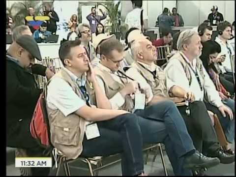 Rueda de prensa de Nicanor Moscoso y observadores internacionales tras elecciones municipales 2017