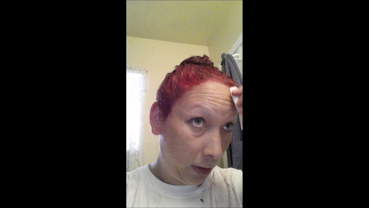 How To Remove Splat Hair Dye From Skin Youtube