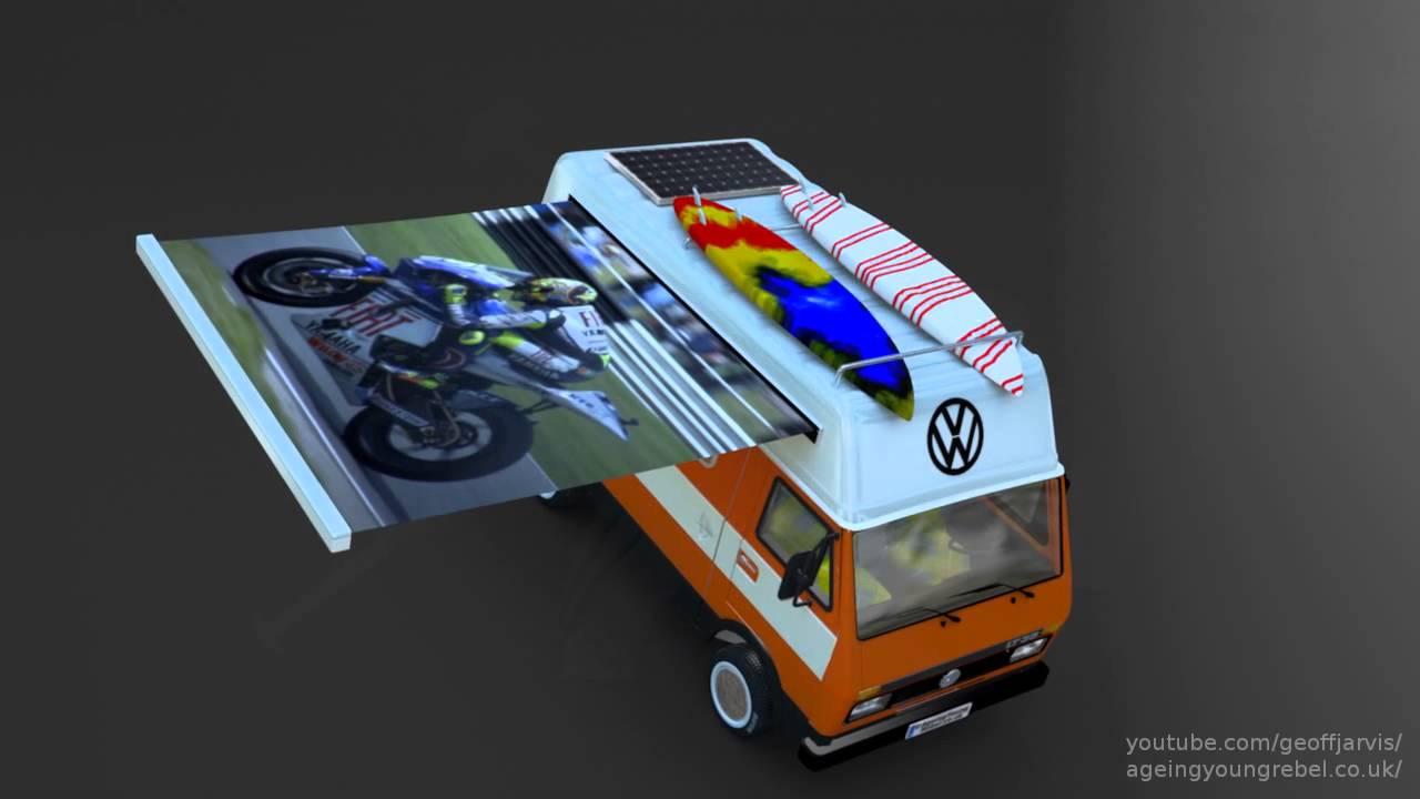 DIY VW Camper Van Conversion Layout Volkswagon LT35