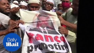 Protests in Bangladesh over Emmanuel Macron's comments on Mohammed cartoon