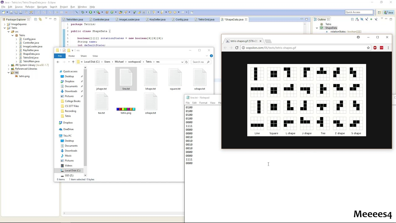 Java Tetris Tutorial 10 - Shape Data