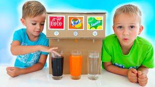 Vlad dan Niki kids story tentang sweet machine