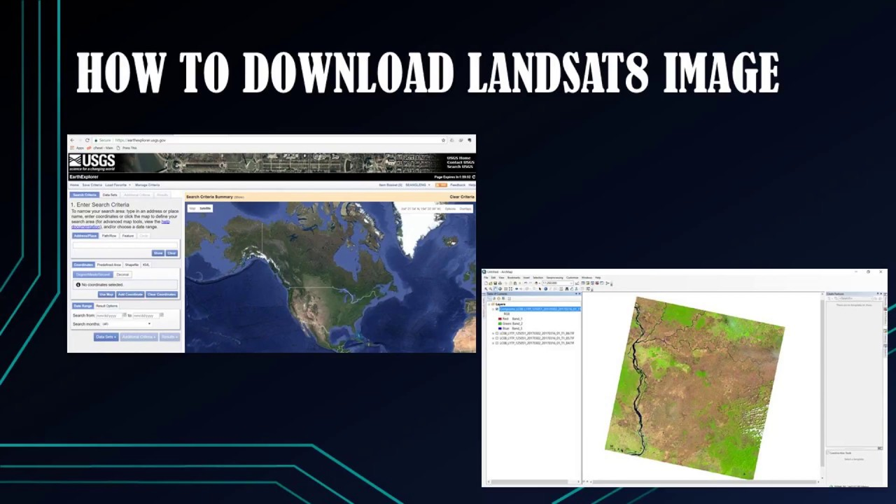 How to download landsat image landsat8 youtube.