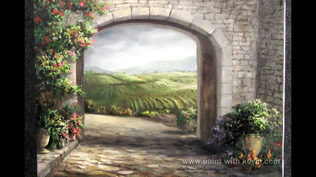 Tuscan Landscape Acrylic Paintings
