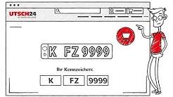 KFZ Kennzeichen: so bekommst Du Dein Wunschkennzeichen! UTSCH24.de