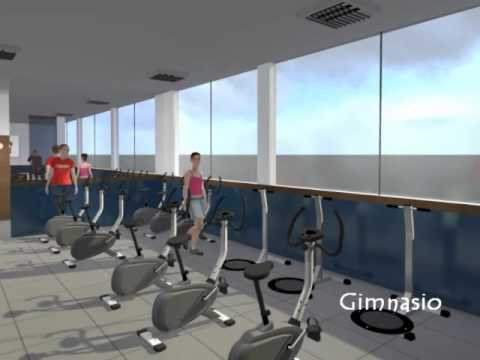 sauna y gimnasio 3d youtube