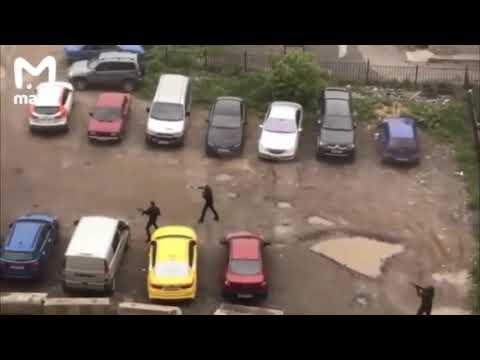 Перестрелка у ЖК Ясное на Юге Москвы Каширское шоссе