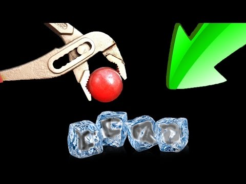 EXPERIMENT - 700 Grad glühende Metall Kugel VS EIS