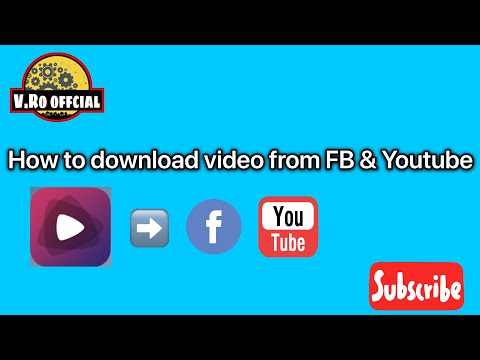 How to download video from Facebook & youtube save tv IPhone [ V.Ro Offcial ]