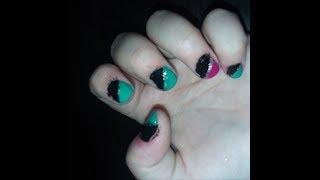 Half Cut Nail | Nail Art