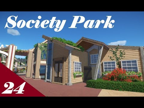 Planet Coaster | Society Park Part 24 | Staff Buildings