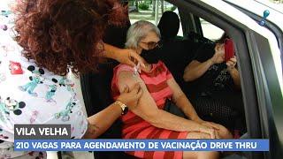 Vacinação em Vila Velha contra a Covid-19 acontece em Drive-thru
