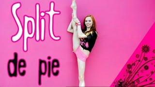 Split de pie o subir la pierna arriba/ ejercicios de flexibilidad / Perfecta de pies a cabeza
