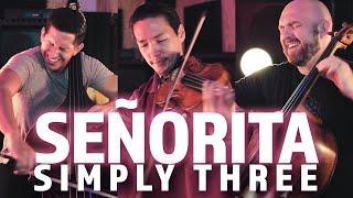 Señorita - Shawn Mendes & Camila Cabello (violin/cello/bass cover) - Simply Three | STUDIO SESSIONS