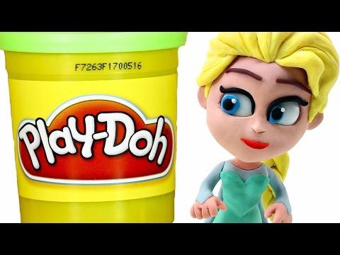 FROZEN Elsa Play doh STOP MOTION videos: Disney Playdough Toy Eggs