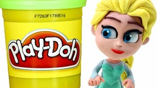 Repeat youtube video FROZEN Elsa Play doh STOP MOTION videos: Disney Playdough Toy Eggs