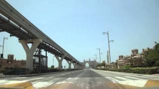 Driving all Palm Jumeirah Dubai United Arab Emirates