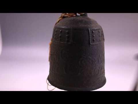 Japanese Antique Buddhist Bronze temple bell Vajra Bell esoteric Buddhism zen