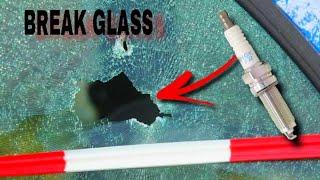 Break Window With Spąrk Plug|| How to Break glass || Life hack