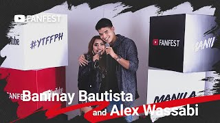 Baninay Bautista and Alex Wassabi @ YouTube FanFest Manila 2019