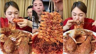 ASMR MUKBANG-거대 슈퍼 매운 해산물을 먹는 …