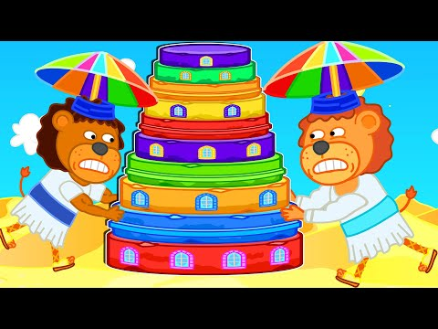 Lion Family Official Channel 🗼 Build Tower Of Babel   Cartoon For Kids