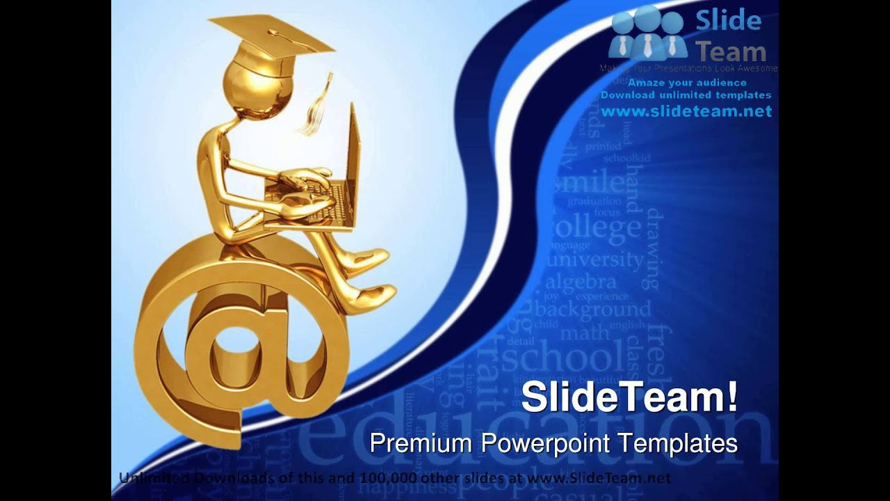 Online Graduate Education Powerpoint Templates Themes And
