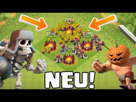 RIESENSKELETT & KÜRBISBARBAR! || Clash of Clans - Sneak Peek || Let's Play CoC [Deutsch German]