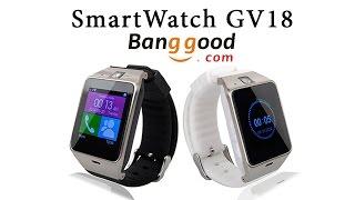 Обзор Умные часы телефон BlitzWolf GV18 / Посылка с Banggood / Smartwatch gv18 aplus Banggood