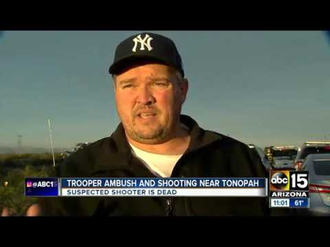 DPS trooper ambushed shot on Interstate 10 in Tonopah   ABC15 Arizona