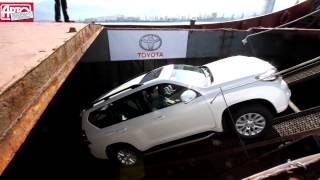 Обновленный внедорожник Toyota Land Cruiser Prado в порту Батуми(Подробности от обозревателя Авторевю Константина Сорокина — в №6, 2014., 2014-03-18T09:32:59.000Z)