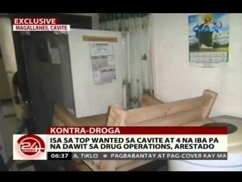 24Oras: Exclusive: Isa sa top wanted sa Cavite at 4 na iba pa na dawit sa drug operations, arestado