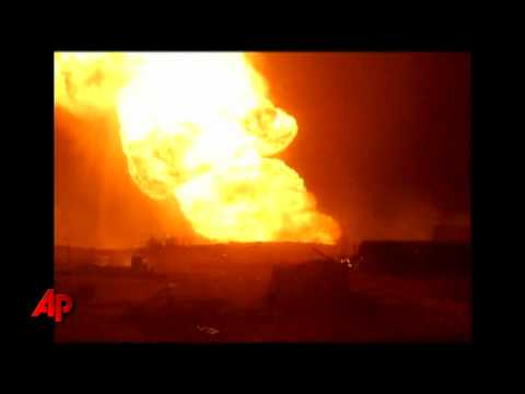 Raw Video: Gunmen Blow Up Egyptian Gas Pipeline