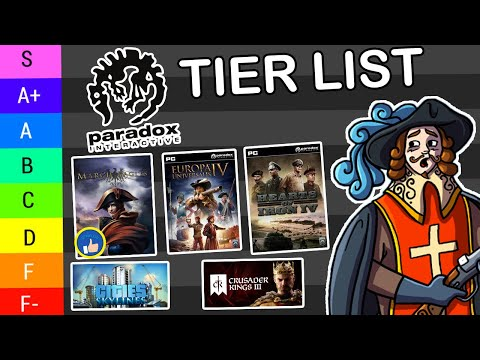 Creating The BEST Paradox Game Tier List You've Ever Seen! |