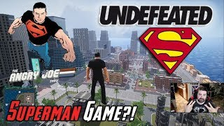 AngryJoe Plays Undefeated! [NEW SUPERMAN GAME!?]