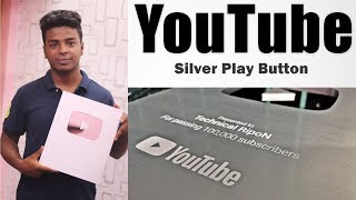 YouTube Silver Play Button For Technical RipoN