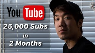 How To Get Your First 25,000 Subscribers in 2 Months